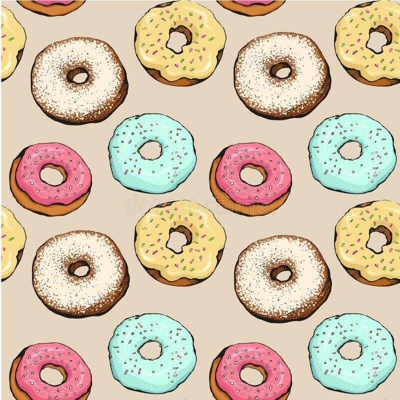 Donutmuster 12 lizenzfreie abbildung