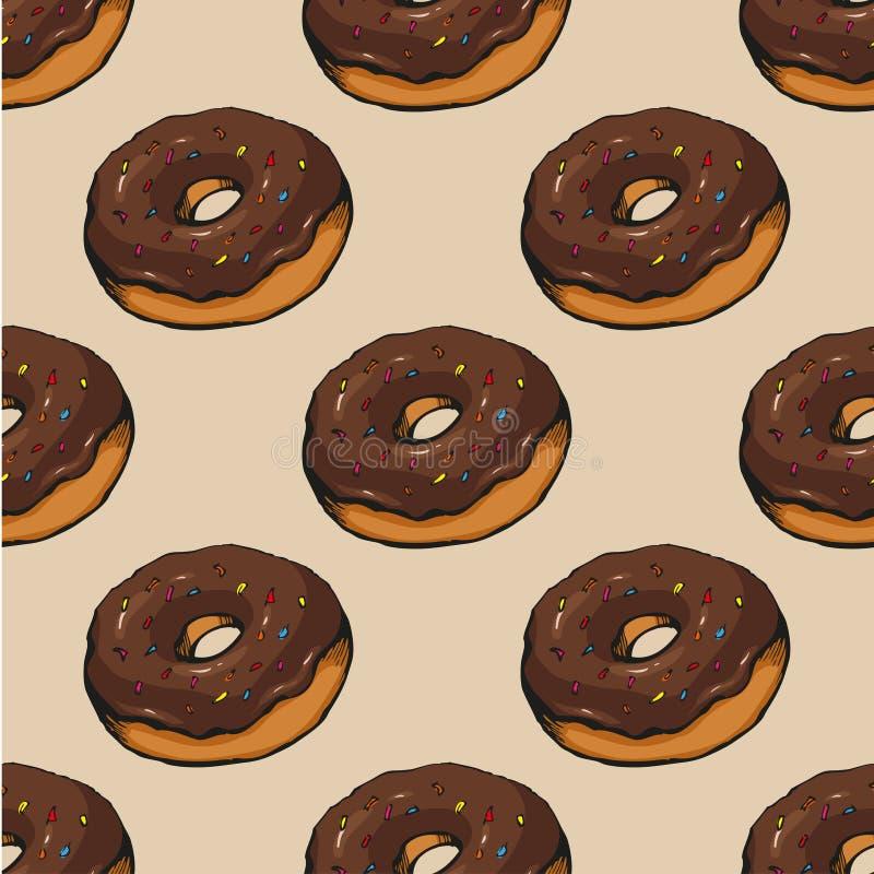 Donutmuster 14 vektor abbildung