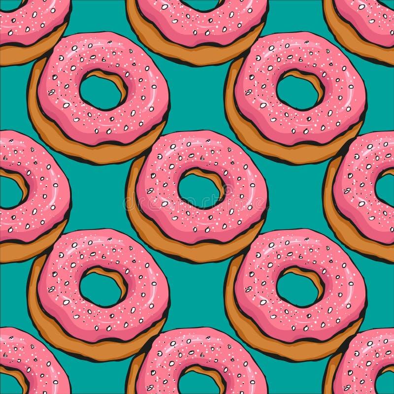 Donutmuster 18 lizenzfreie abbildung