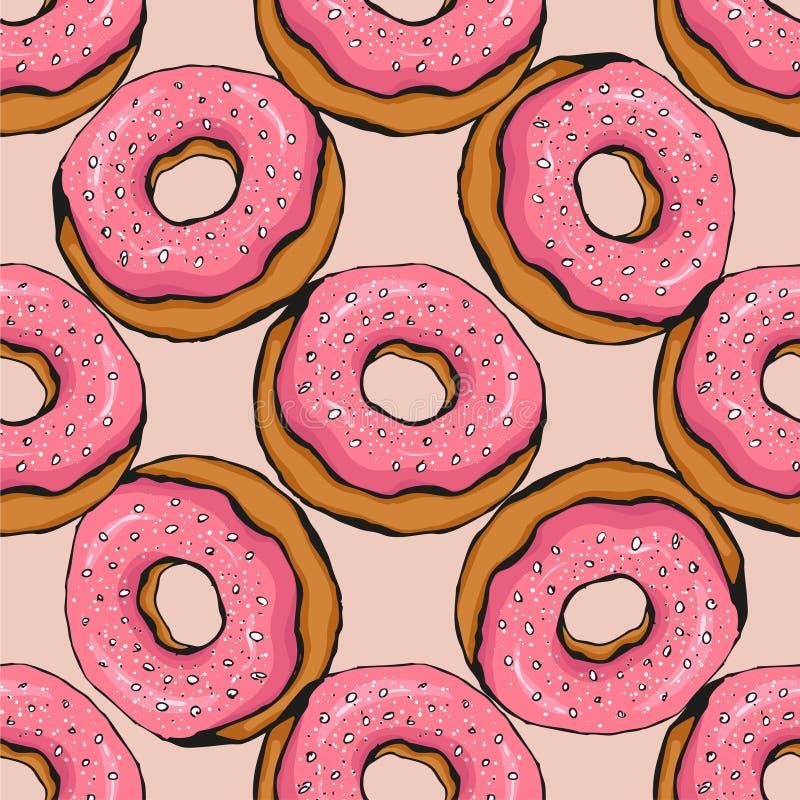 Donutmuster 17 vektor abbildung