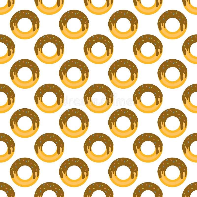 Donutmuster nahtlos vektor abbildung