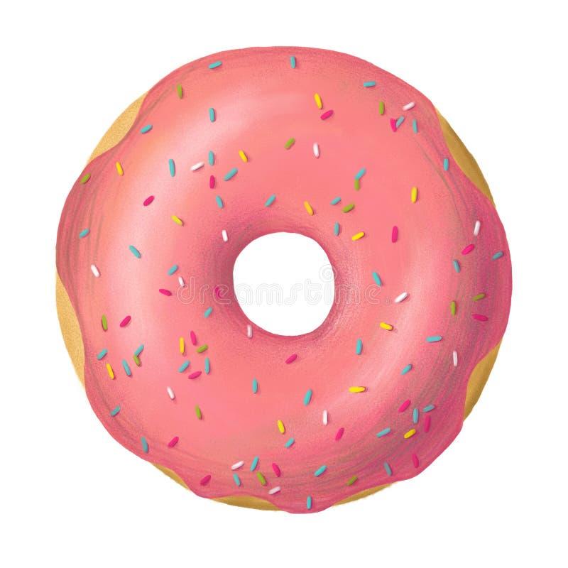 Donutrosaglasur stockbild