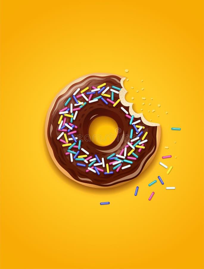 donuts Αμερικανικό γλυκό επιδόρπιο διανυσματική απεικόνιση