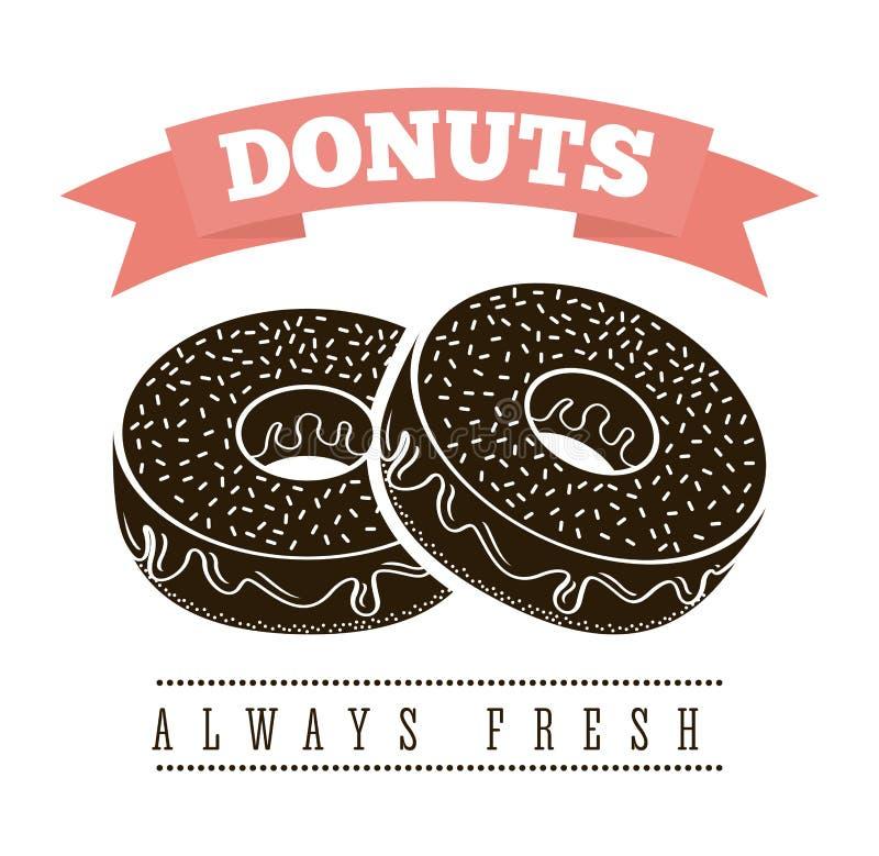 donuts γλυκό διανυσματική απεικόνιση