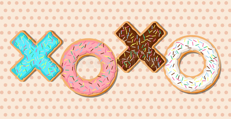 Donuts вектора XOXO бесплатная иллюстрация