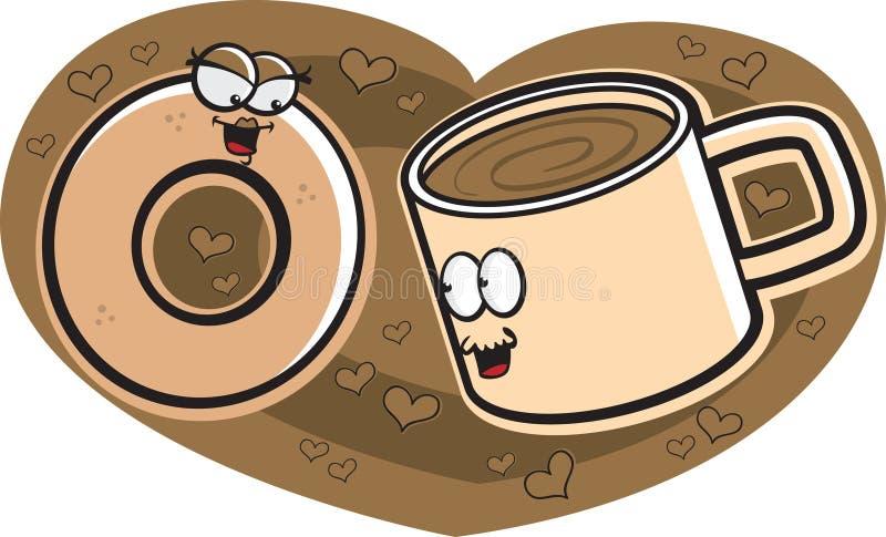 donuts кофе иллюстрация штока