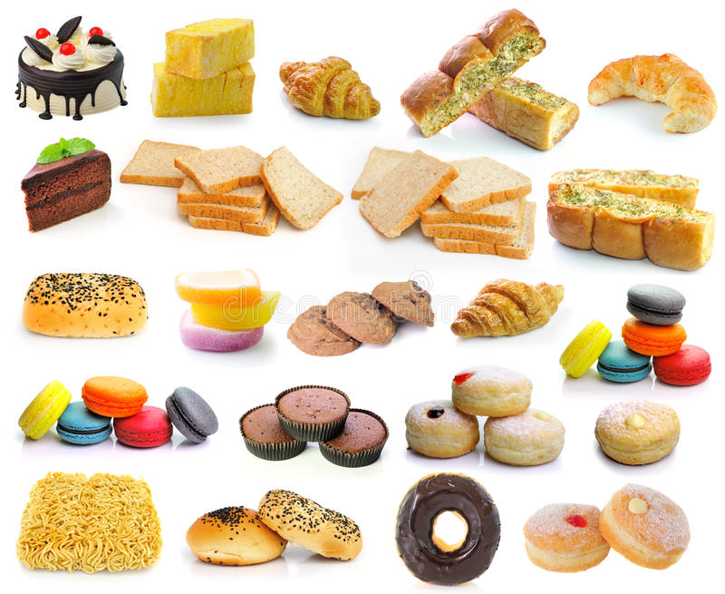 Donuts круассанов хлеба чеснока хлеба торта стоковое фото rf