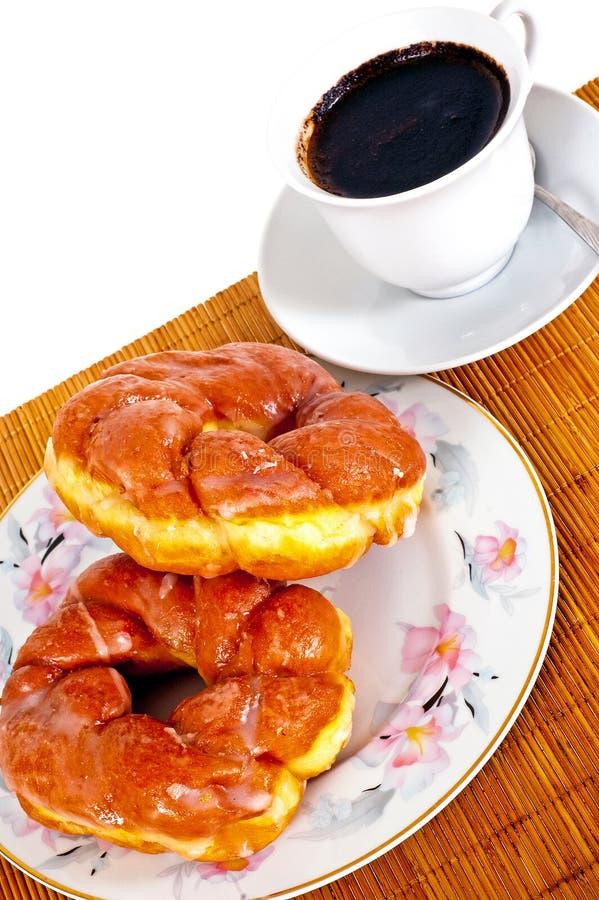 Donuts с кофе стоковые изображения rf