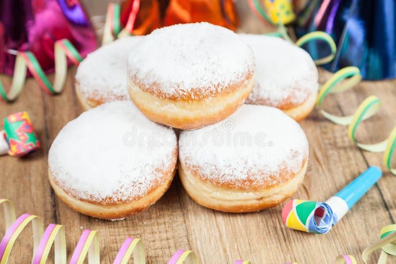 Donuts (Berlin blin) dla karnawału obraz royalty free
