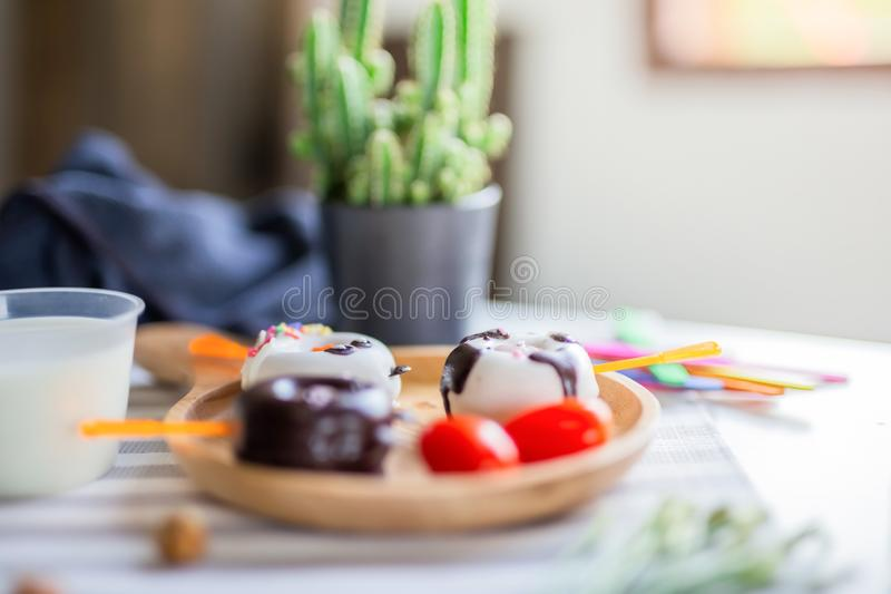 Donuts Bread design cute animal royalty free stock photography