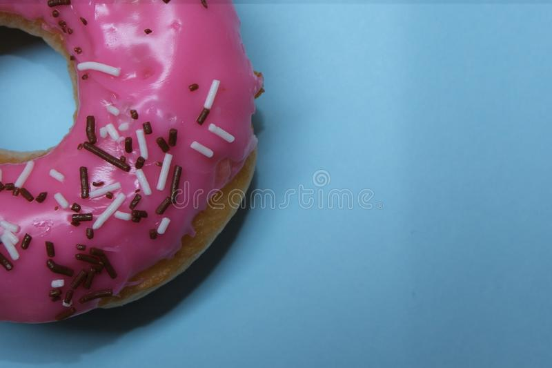 Donuts  on colorful background. Many Assorted donuts on a background stock images