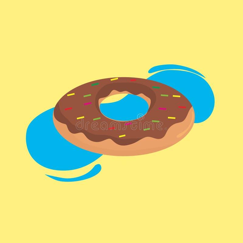 Donuts f?r sommarmatmodell royaltyfri illustrationer