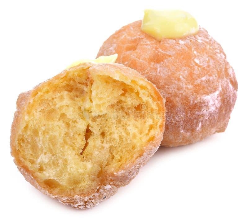 Donuts galareta Odizolowywająca na białym tle zdjęcia royalty free