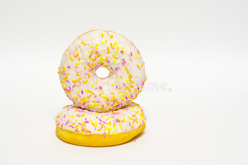 Donuts glazed. isolated. Donuts glazed on a white background. isolated royalty free stock images
