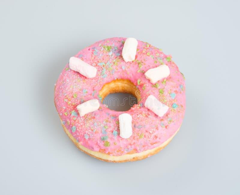 donuts of heerlijke donuts op een achtergrond stock afbeelding