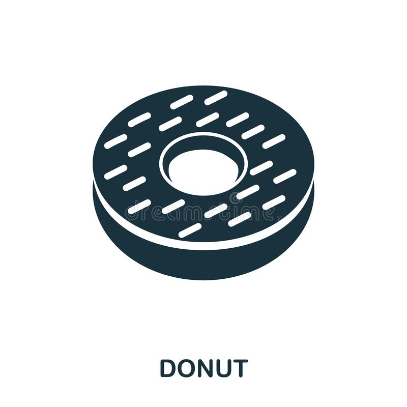 Donuts icon. Mobile apps, printing and more usage. Simple element sing. Monochrome Donuts icon illustration. Donuts icon. Mobile apps, printing and more usage vector illustration