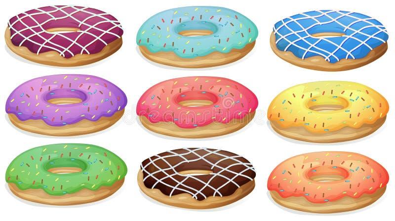 Donuts. Illustration of a set of donuts vector illustration