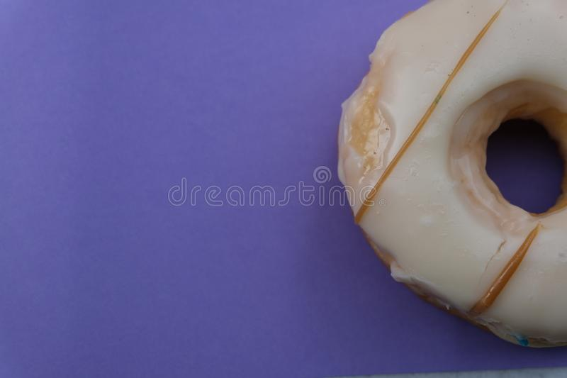 Donuts isolated on colorful background. Many Assorted donuts on a background stock photography