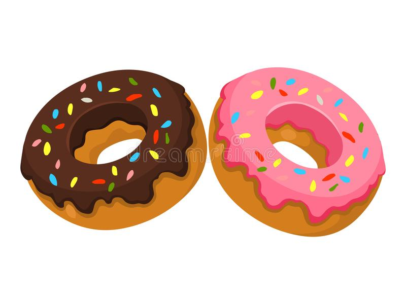Donuts.Vector illustration of Donuts. Donuts isolated on white background vector illustration stock illustration