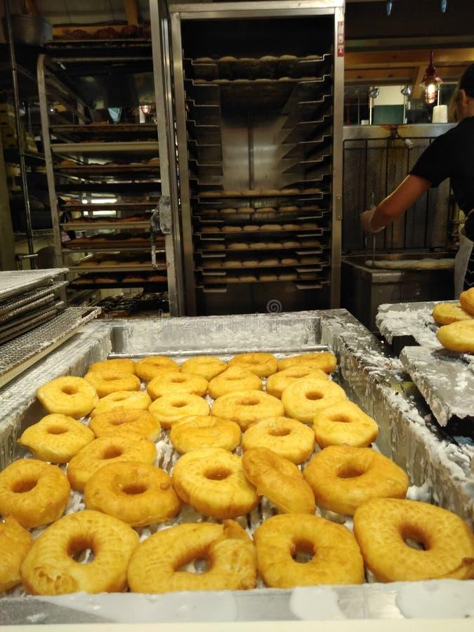 Donuts kyla som läser den slutliga marknaden, Philadelphia, PA, USA royaltyfri fotografi