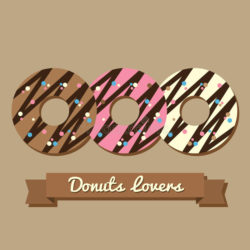Download Donuts Lovers stock vector. Illustration of frosting - 39507601