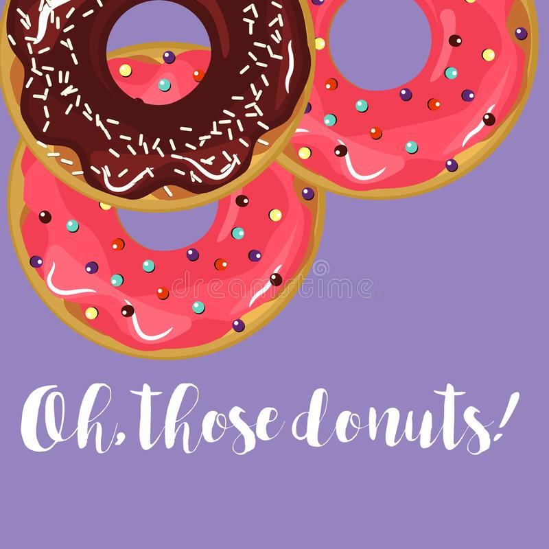 Donuts met glans vector illustratie