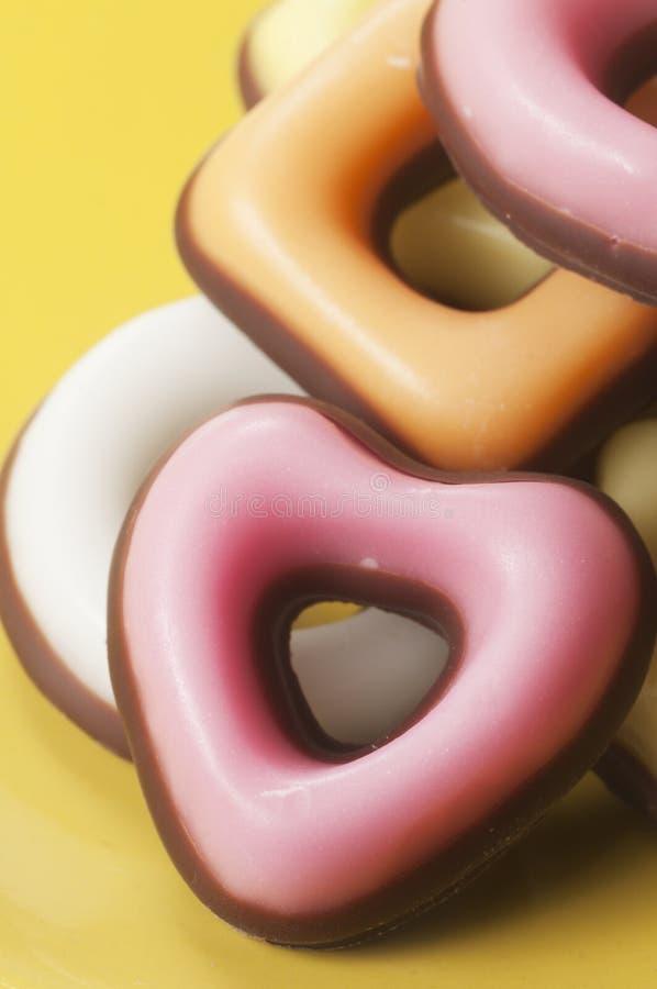 Donuts met suikerglazuur en bovenste laagje stock fotografie