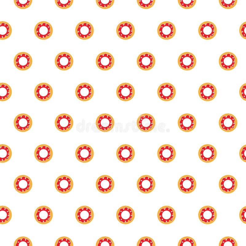 Donuts naadloos patroon op witte achtergrond vector illustratie