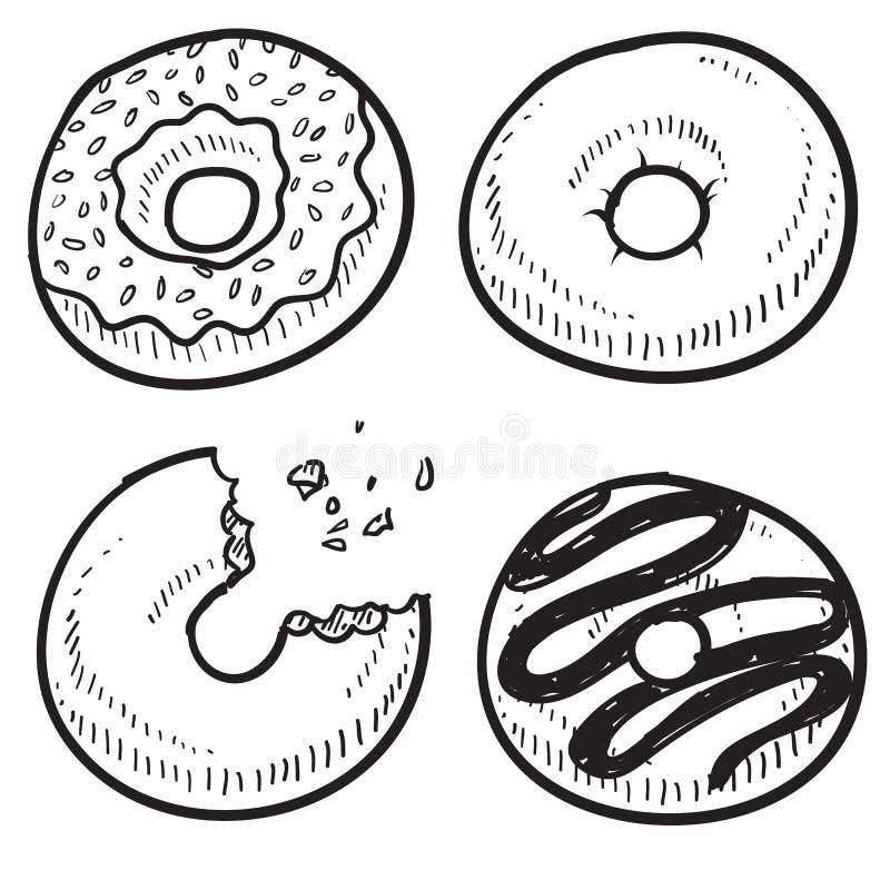 Donuts nakreślenie ilustracji