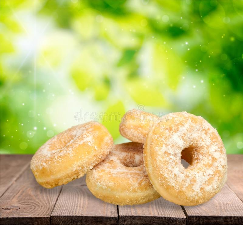 Donuts. Pastry Beignet Food Unhealthy Eating Group of Objects stock images