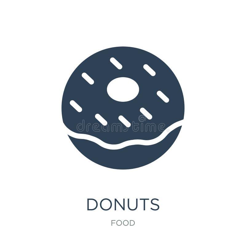 donuts pictogram in in ontwerpstijl donuts pictogram op witte achtergrond wordt geïsoleerd die donuts vectorpictogram eenvoudig e stock illustratie
