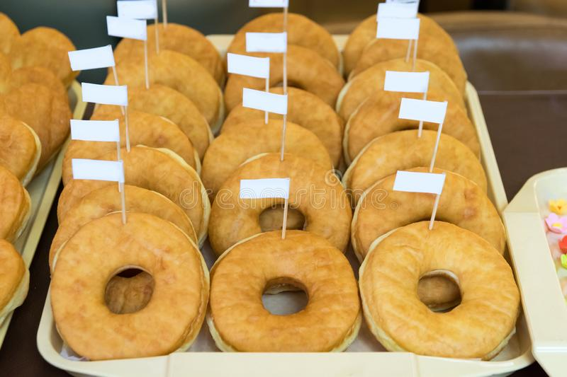 Donuts on plate. Food donut stock photos