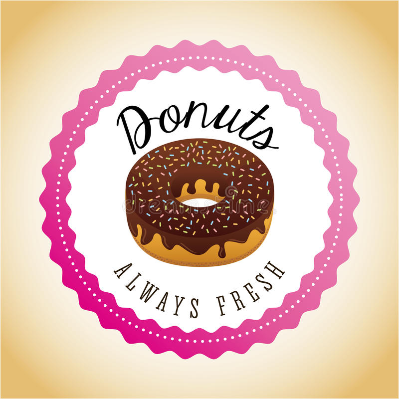 donuts słodcy royalty ilustracja