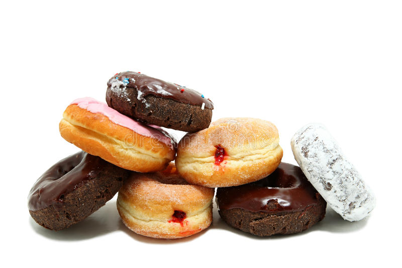 Donuts Stacked On Each Other royalty free stock photography