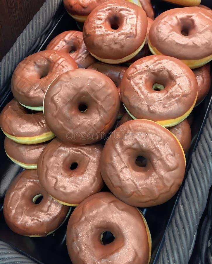 Donuts. Sweet fresh donuts at shop stock image