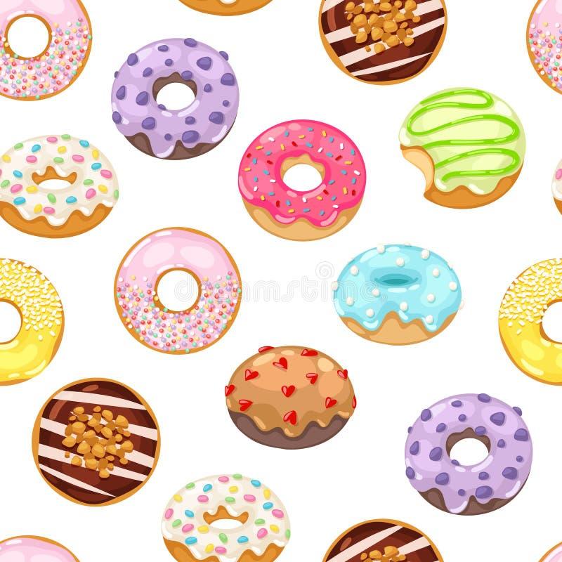 Donuts vector naadloos patroon royalty-vrije illustratie