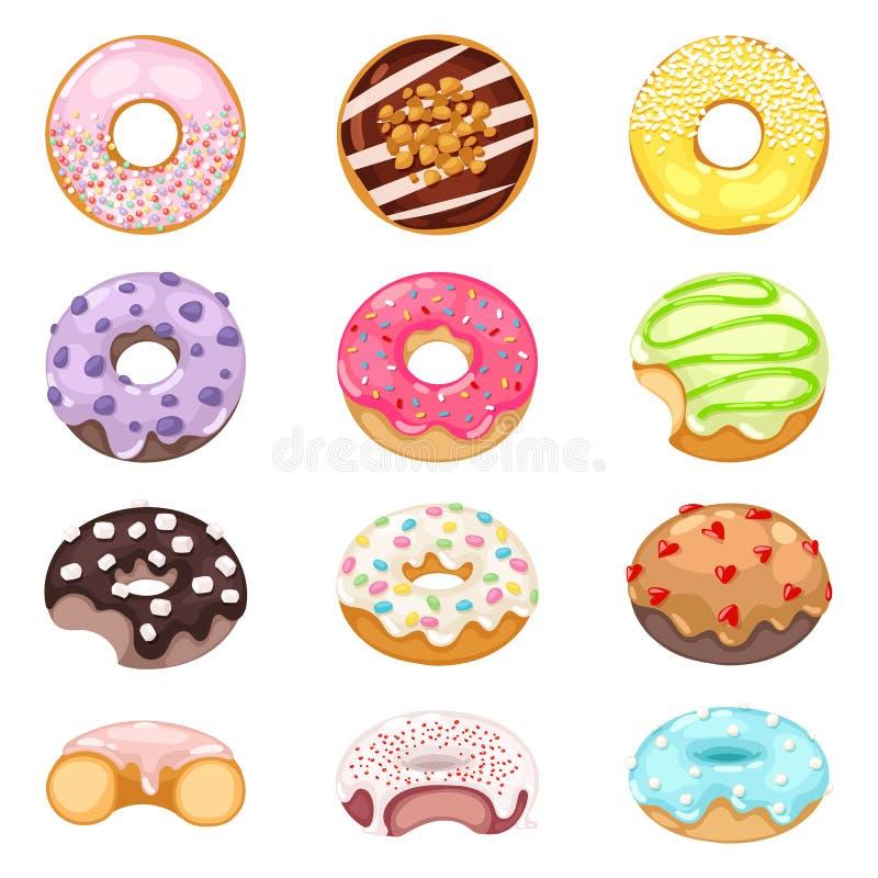Donuts vectorreeks vector illustratie