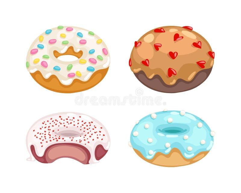Donuts vectorreeks stock illustratie