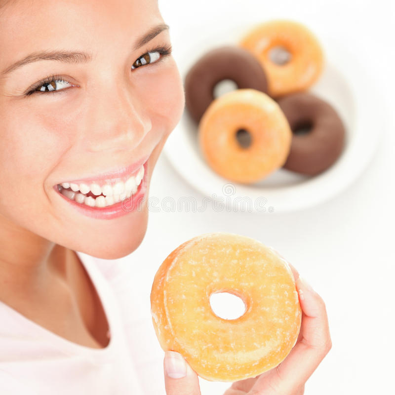 Download Donuts woman stock image. Image of food, closeup, pretty - 15934797