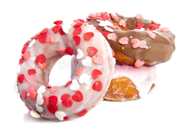 Donuts z kierowymi cukierkami fotografia stock