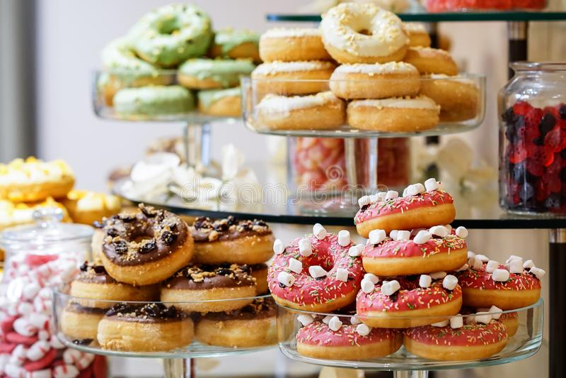 Donutsbar royalty-vrije stock afbeelding