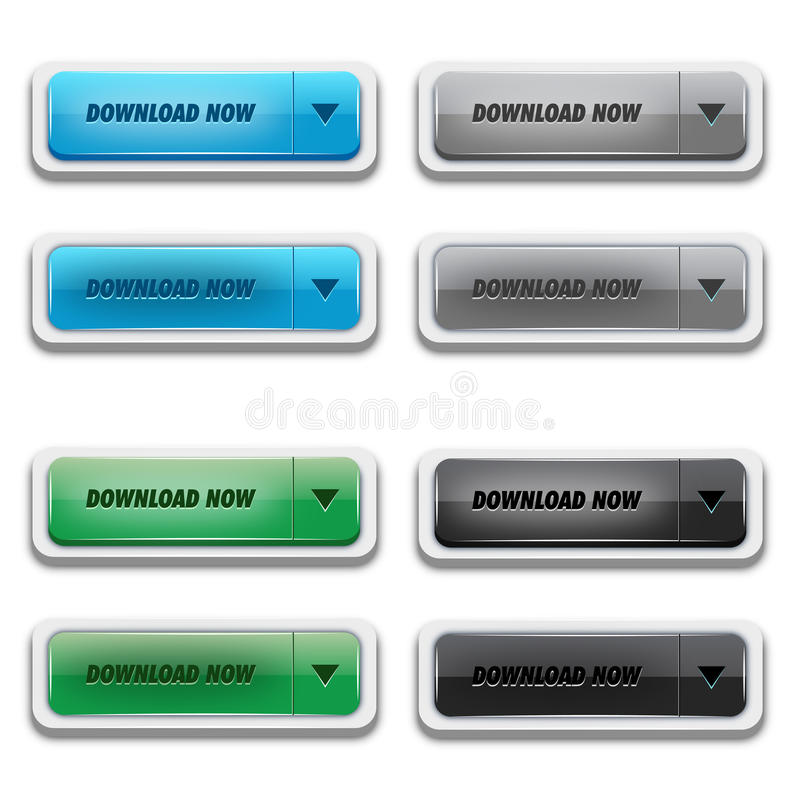 Donwload Button Set stock illustration