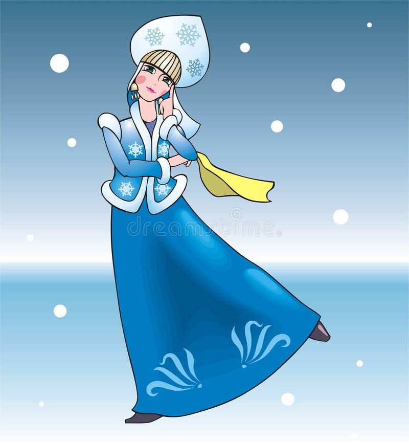 Donzela da neve ilustração royalty free