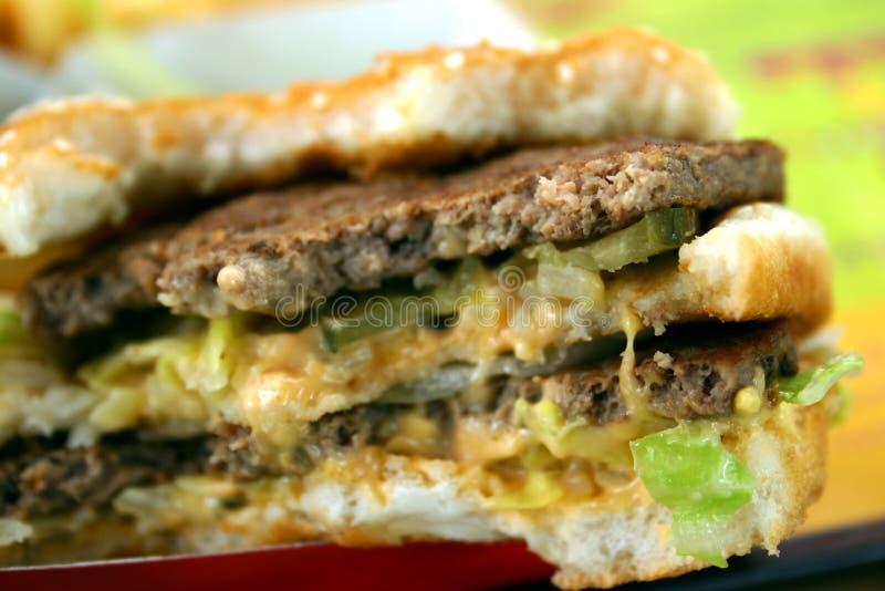 Dood door Hamburger royalty-vrije stock foto