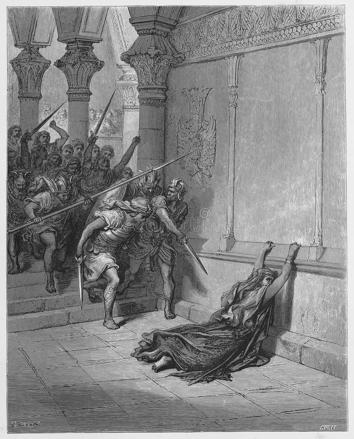 Dood van Athaliah royalty-vrije illustratie