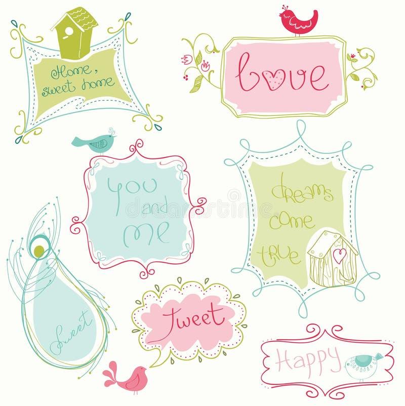 doodle γλυκό πλαισίων απεικόνιση αποθεμάτων