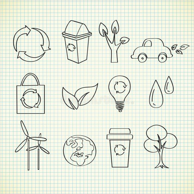 doodle οικολογία απεικόνιση αποθεμάτων