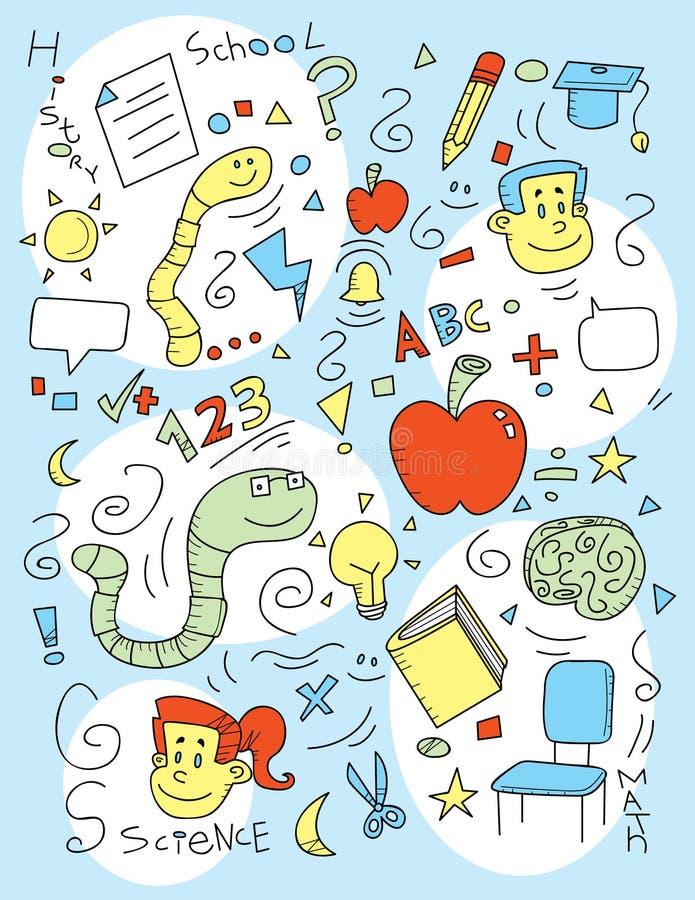 doodle σχολείο απεικόνιση αποθεμάτων