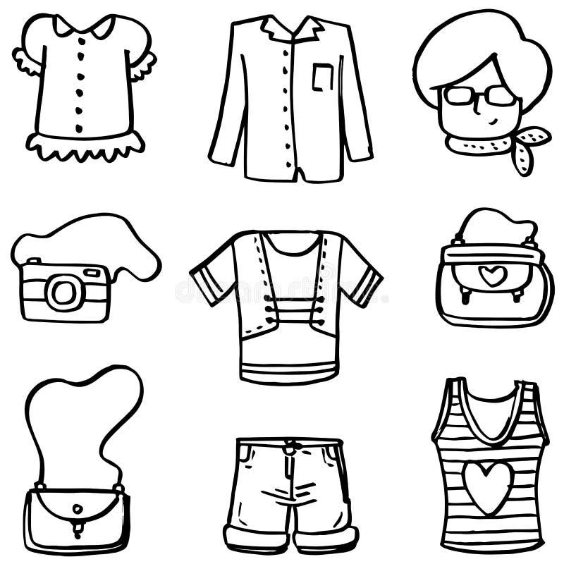 Doodle аксессуаров для женщин иллюстрация вектора