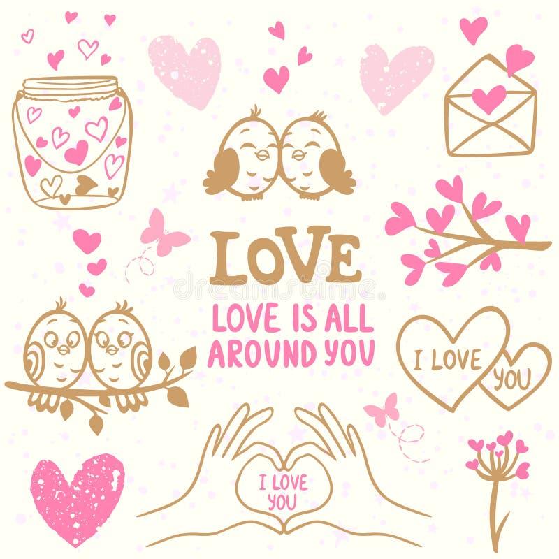 Doodle влюбленности иллюстрация вектора